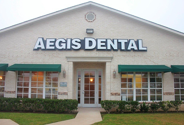 Front view of Aegis Dental in Carrollton